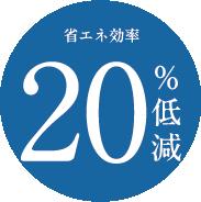 省エネ効率20%低減